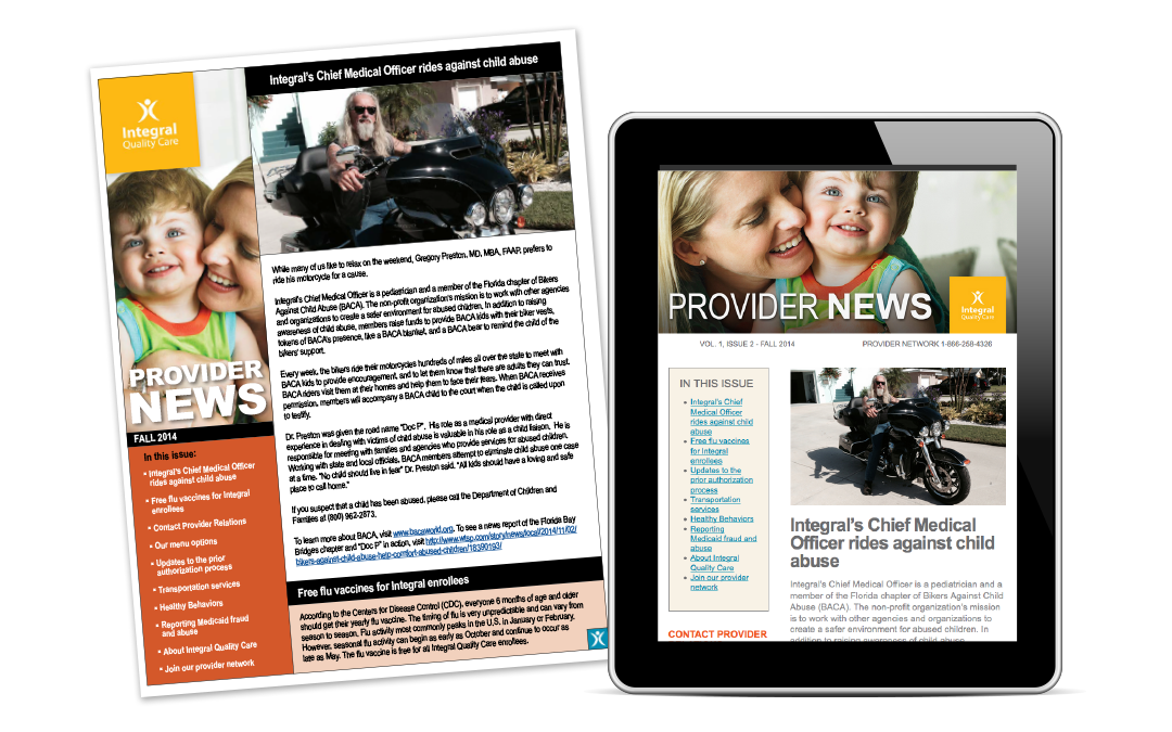 Integral Newsletter Print & Email Design