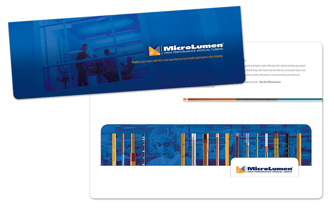 MicroLumen Mini Pocket Folder with Capabilities and Business Card inserts